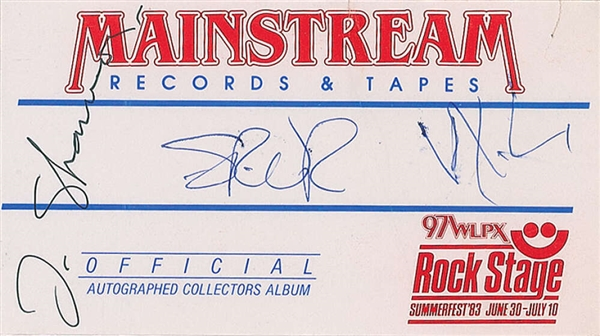 Stevie Ray Vaughan & Double Trouble Signed Vinyl Sticker (Beckett/BAS)
