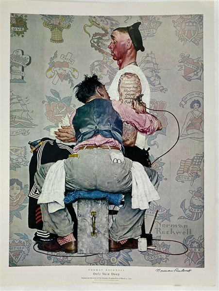 Norman Rockwell Signed Only Skin Deep Lithograph (Beckett/BAS)