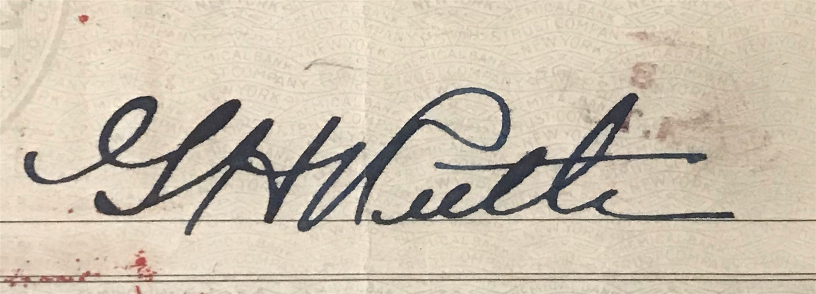 Babe Ruth Superb Handwritten & Signed Bank Check :: JSA LOA & PSA/DNA Graded GEM MINT 10 Autograph!