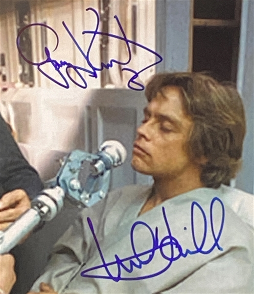 "Star Wars: Mark Hamill and Gary Kurtz 10"" x 8"" Behind-the-Scenes Signed Photo from ""The Empire Strikes Back"" (Beckett/BAS Guaranteed)"