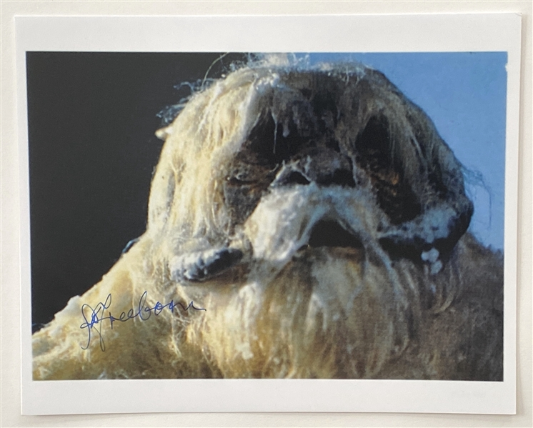 "Star Wars: Hoth ""Wampa"" 10"" x 8"" Photo Signed By Makeup Artist Stuart Freeborn from ""The Empire Strikes Back"" (Beckett/BAS Guaranteed)"