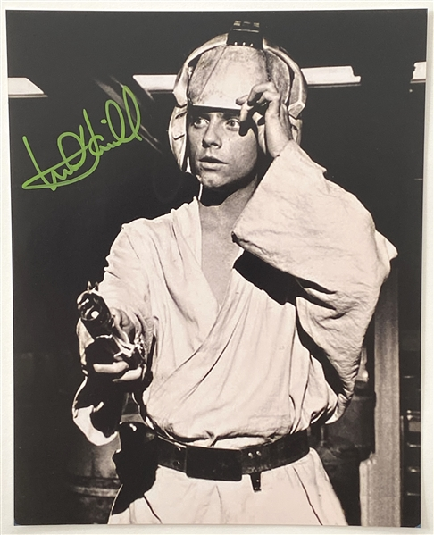 "Star Wars: Mark Hamill 8"" x 10"" Signed Photo Lightsaber Training with Obi-Wan from ""A New Hope"" (Beckett/BAS Guaranteed)"
