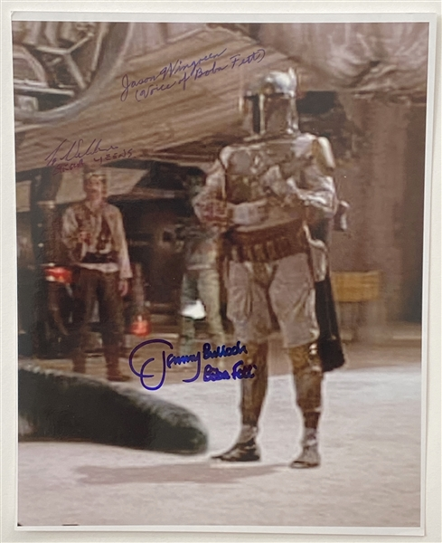 "Star Wars: Boba Fett Jeremy Bulloch & James Wingreen 8"" x 10"" Dual-Signed Photo From ""A New Hope"" (Beckett/BAS Guaranteed)"