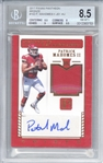 Super Bowl MVP: Patrick Mahomes Signed 2017 Panini Pantheon Bronze /5 #102 Rookie Card (Beckett/BGS Graded NM-MT+ 8.5 w/ 10 Auto)