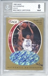 Vince Carter Signed 1998 Sage Rookie Gold Limited Edition /95 #A8 Card - Beckett/BGS 8!