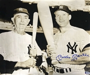 "Mickey Mantle Signed Over-Sized Original 14"" x 17"" Photograph w/ Frank Home Run Baker! (Beckett/BAS)"