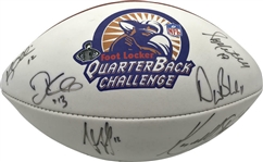 1998 QB Club Signed Football w/ Bledsoe, Dilfer, McNair & Others (JSA)