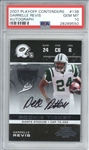 Darrelle Revis Signed 2007 Playoff Contenders #138 Rookie Card (PSA Graded GEM MINT 10)