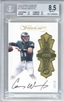 Carson Wentz Signed 2016 Panini Flawless /15 Rookie Card - Beckett/BGS Graded 8.5 w/ 10 Auto!