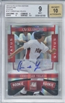 Christian Yelich Signed 2010 Elite Extra Edition Status /50 Rookie Card (Beckett/BGS Graded 9 w/ 10 Auto)