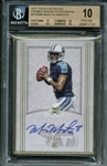 Marcus Mariota Signed 2015 Topps Definitive Framed Rookie Autographs /30 Card - Beckett/BGS Graded 10 w/ 10 Auto!