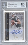 Sam Darnold Signed 2018 Panini One Gold /10 Rookie Card (Beckett/BGS Graded NM-MT+ 8.5)