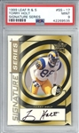 Torry Holt Signed 1999 Leaf Rookies & Stars Rookie Card (PSA Graded MINT 9)