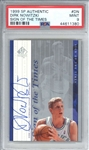 Dirk Nowitzki Signed 1999 SP Authentic Sign Of The Times #DN PSA 9