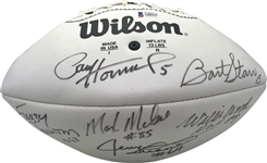 1961-62 Green Bay Packers Multi-Signed Wilson Football w/ Bart Starr (Beckett/BAS)