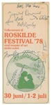 Bob Marley & The Wailers Rare Signed Program for the 1978 Rosklide Festival in Denmark (Tracks UK LOA & Beckett/BAS Guaranteed)