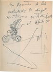 "Salvador Dali Exceptional 5"" x 7"" Signed & Hand Sketched/Drawn ""Motorized Night Angel"" Art! (Beckett/BAS)"