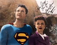 "Superman: Phyllis Coates Signed 11"" x 14"" Color Photo as Lois Lane (Beckett/BAS Guaranteed)"