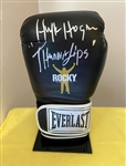 "Rocky III: Hulk Hogan Signed Rocky Model Boxing Glove with ""Thunderlips"" Inscription (Beckett/BAS Guaranteed)"