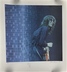 Led Zeppelin: Jimmy Page Signed Limited Edition (244/300) Sandra Lawrence Lithograph (Beckett/BAS)