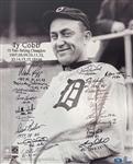 "Ty Cobb Batting Title Multi-Signed 16"" x 20"" Photograph w/ Puckett, Boggs & Others (Beckett/BAS)"