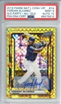 Yordan Alvarez Signed 2019 Panini National Convention VIP Gold Party /5 Rookie Card (PSA Graded 9 w/ 10 Auto)