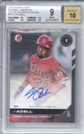 Jo Adell Signed 2020 Bowman Next Top 100 Prospects Rookie Card (Beckett/BGS Graded 9 w/ 10 Auto)