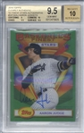 Aaron Judge Signed 2018 Topps Clearly Authentic /15 Trading Card (Beckett/BGS Graded 9.5 w/ 10 Auto)