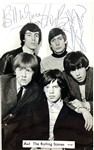 "The Rolling Stones Rare Early Signed 3.5"" x 5.5"" Vintage Photo Postcard with Original Lineup Incl. Brian Jones (Epperson/REAL LOA)"