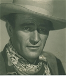 "John Wayne Signed Oversized 10"" x 11"" B&W Photo (Beckett/BAS Guaranteed)"