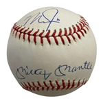 Legends of the Diamond: Mickey Mantle & Mike Trout RARE Dual-Signed OAL Baseball (PSA/DNA & MLB)
