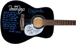 The Beach Boys Stellar Group Signed Fender Squier Stratocaster Guitar w/ RARE 5 Members! (JSA)