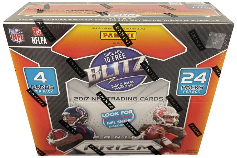 2017 Panini Prizm Football Factory Sealed 24 Pack Retail Box w/ Possible Mahomes or Watson Rookies!