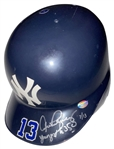 "Alex Rodriguez Signed New York Yankees Game Issued Batting Helmet w/ ""Youngest to 350"" Inscription (PSA/DNA)"