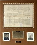 Abraham Lincoln ULTRA-RARE Impressive Signed 1863 Presidential Ships Paper (Beckett/BAS Guaranteed)