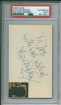 "Max Von Sydow Signed 3.5"" x 5"" Cut (PSA/DNA Encapsulated)"