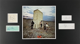 The Who Group Signed Cut Ensemble in Custom Matted Display (Epperson/REAL LOA)