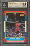 1986 Fleer Michael Jordan #57 Rookie Card :: BGS GEM MINT 9.5 with Quad 9.5 Subgrades!