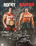 "Sylvester Stallone Unique Signed 16"" x 20"" Color Photo with Multiple Inscriptions (ASI COA)(Beckett/BAS Guaranteed)"