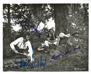 "Easy Rider RARE Cast Signed 8"" x 10"" Photo with Nicholson, Fonda and Hopper (Beckett/BAS LOA)"