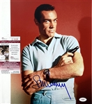 "Sean Connery Signed 11"" x 14"" Color Photo as Agent 007: James Bond (JSA COA)"