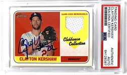 Clayton Kershaw Signed 2019 Topps Heritage Clubhouse Collection Trading Card (PSA/DNA)