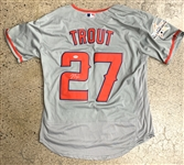 Mike Trout Signed Los Angeles Angels Away Style Jersey (PSA/DNA)