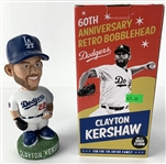 Clayton Kershaw Signed 2018 Dodgers 60th Anniversary Retro Bobblehead (In Box)(PSA/DNA)