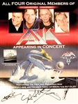 "Asia Group Signed 18"" x 24"" Promotional Poster (4 Sigs)(Beckett/BAS Guaranteed)"