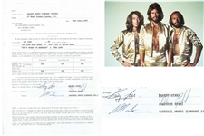 Bee Gees: Barry Gibb & Maurice Gibb Dual-Signed 1969 Contract (PSA/DNA)