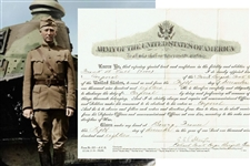 George S. Patton Signed 1918 Document (PSA/DNA)
