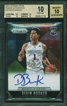 2015-16 Devin Booker Panini Prizm Rookie Autographs #15 :: BGS Graded PRISTINE 10 with 10 Auto!