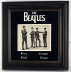 "The Beatles Group Signed 8"" x 10"" Dezo Hoffmann Original Vintage Photograph in Custom Framed Display (Caiazzo)"