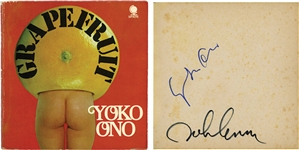 John Lennon & Yoko Ono Dual-Signed Grapefruit Book (Beckett/BAS Guaranteed) (Tracks COA)